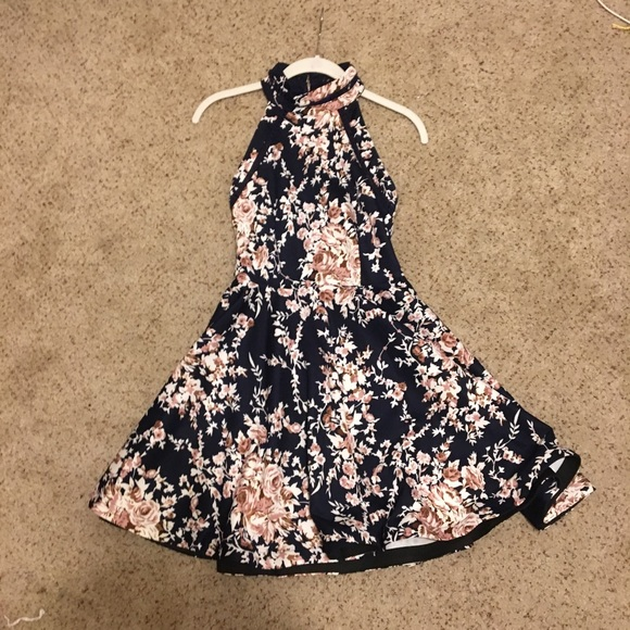 9fe25c381216 Macy's Dresses | B Darlin Juniors Printed Fit Flare Dress | Poshmark